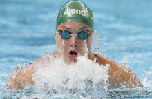 Plaukimo varžybose Belgijoje – dar šeši lietuvių medaliai