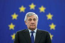 Europos Parlamento pirmininku išrinktas italas A. Tajani