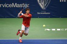 Tenisininkas R. Berankis pergalingai pradėjo turnyrą Italijoje