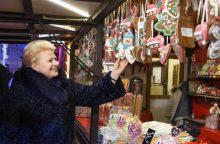 Kalėdinį traukinuką išbandė ir D. Grybauskaitė