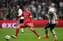 """""""Bayern"""" futbolininkai užtikrintai pateko į Čempionų lygos ketvirtfinalį"""