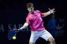 Tenisininkas R. Berankis Maskvoje pralaimėjo Rusijos talentui
