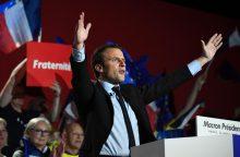 E. Macronas nušvilptas M. Le Pen palaikančioje šiaurinėje Prancūzijoje