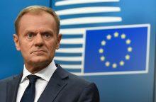 """ES lyderiai raginami spartinti planus """"Brexit"""" scenarijui be sutarties"""