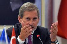 ES komisaras: Berlyno pozicija dėl Turkijos yra suprantama