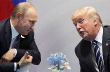 """Į """"Time"""" metų žmogaus titulą pretenduoja ir V. Putinas, ir D. Trumpas"""