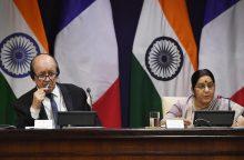 Indija ir Prancūzija ragina susivienyti prieš šalis, remiančias terorą