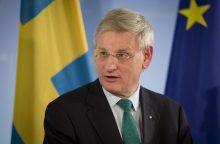 Švedijos politikas C. Bildtas: Lietuvos partizanų istorija buvo per ilgai slepiama