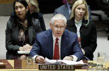 R. Tillersonas patvirtino JAV pasiruošimą kalbėtis su Šiaurės Korėja