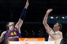 """Ispanijos klubų dvikovą Eurolygoje laimėjo """"Real"""""""