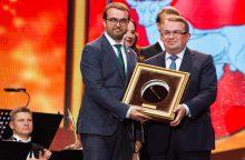 """""""Auksinės krivūlės"""" apdovanojimai įteikti šešiolikai šalies savivaldybių"""