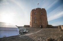 Tvarkant Gedimino kalną, aptiktos XV-XVI a. Aukštutinės pilies sienos liekanos