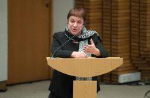 Jubiliejaus proga Prezidentė pasveikino teatrologę A. Girdzijauskaitę