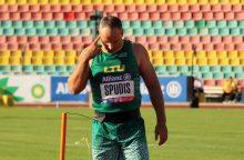 Lengvaatletis J. Spudis Europos neįgaliųjų čempionate užėmė ketvirtąją vietą