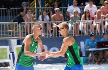 Lietuvos paplūdimio tinklininkai Europos čempionato starte pralaimėjo lenkams