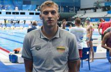 A. Šidlauskas pateko į 100 m plaukimo krūtine pasaulio čempionato finalą