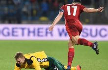 Lietuvos futbolo rinktinė sutriuškinta Čekijoje