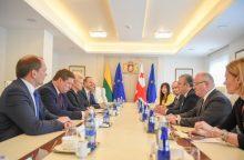 Lietuvos ir Sakartvelo gynybos ministrai aptarė dvišalį bendradarbiavimą