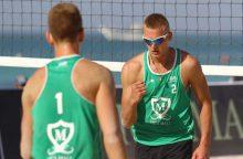 A. Rumševičius ir L. Každailis Irane žengė į ketvirtfinalį