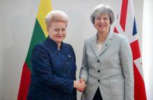 D. Grybauskaitė su britų premjere aptarė emigravusių lietuvių situaciją