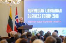 Prezidentė ir Norvegijos karališkoji pora atidarė verslo forumą