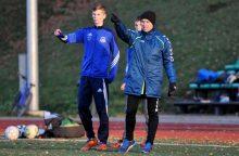 """""""Utenio"""" futbolininkas pradėjo treniruoti jaunąją kartą"""