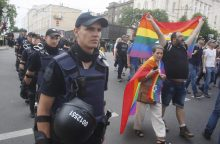 Per homoseksualų paradą Kijeve suimta dešimtys žmonių