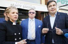 Įvardijo, kuo M. Saakašvilio veiksmai Ukrainoje – itin naudingi J. Tymošenko