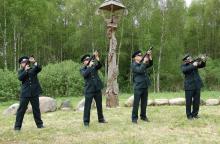 Prie trijų valstybių sandūros – ir Varėnos pasieniečių stogastulpis