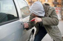 Panevėžyje iš automobilio pavogti muzikos įrašai ir darbiniai batai