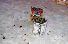 Kaune petarda vyrui nutraukė dalį pirštų