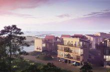 Šventosios uoste išdygo naujas gyvenamųjų namų kvartalas