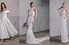 Naujienos vestuvių madoje: vietoj gipiūro – kelnės ir palaidinė