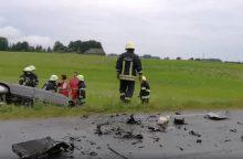 Per avariją Utenos rajone žuvo du vairuotojai