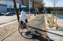 Sostinėje nusidrieks nauji dviračių takai